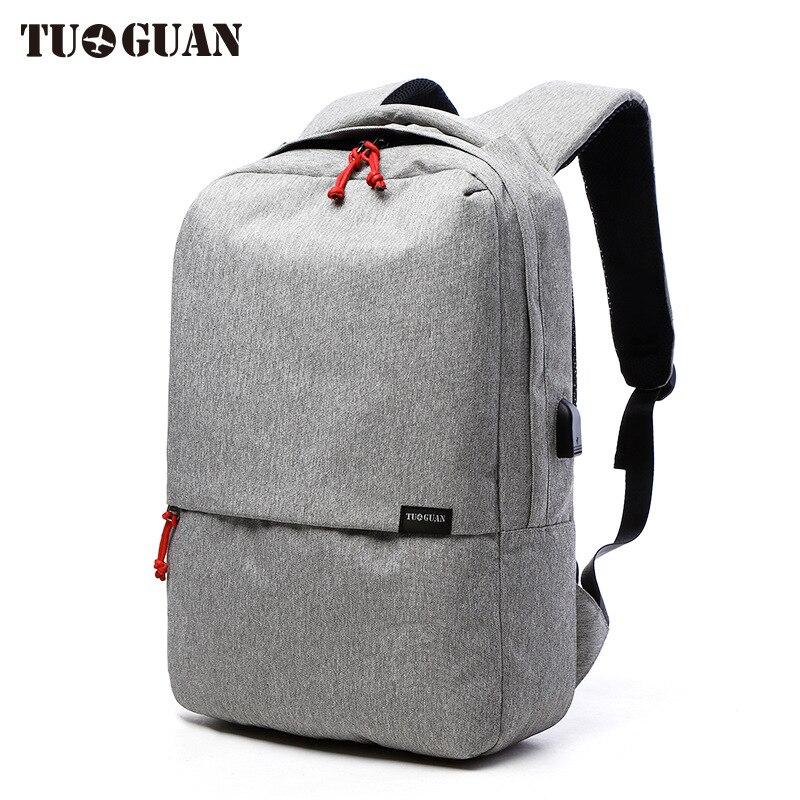 2017 New Korean Style TUGUAN Brand Unisex Men 15 6 Laptop School font b Backpacks b