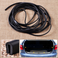 "20ft 1/4"" x 1/8"" Black Car trucks SUV Vehicle Soft Flexible Weatherstrip U Channel Seal Rubber Edge Door Noise Wind Proof Strip"
