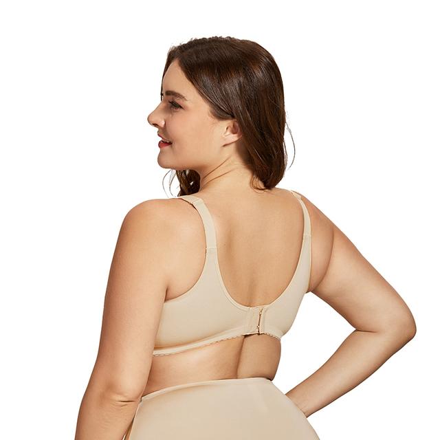 Women's Plus Size Breastfeeding Nursing Bra Cotton Wirefree Soft Maternity Bra with Lace Trim