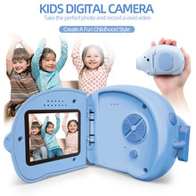 Cartoon Kids Camera Elephant Shape HD Mini Digital Camera 12MP 2.0 in Screen Children Camcorders Photos Video toys for Boys Girls(China)