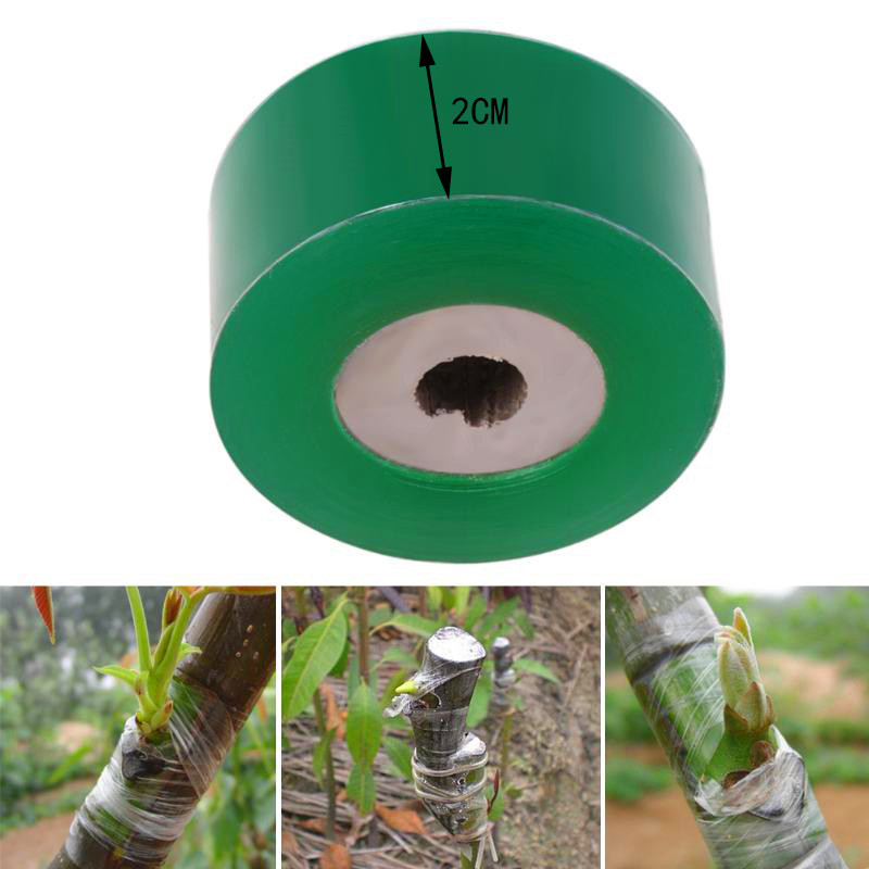 Garden Grafting Tools Fruit Tree Engraft Branch Bind Belt PVC Tie Tape 2CM X 100M Roll Stretch Film Grafting Parafilm Tool