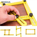 Binoax Four-Sided Ruler Measuring Instrument Template Angle Tool Mechanism Slides