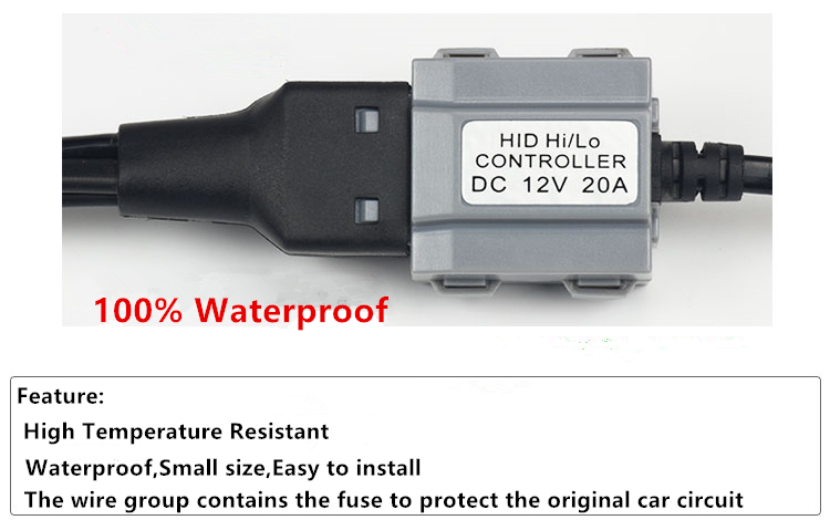 GZTOPHID Bi xenon lamp HID Low/High controller Wire H6 HID Relay ...