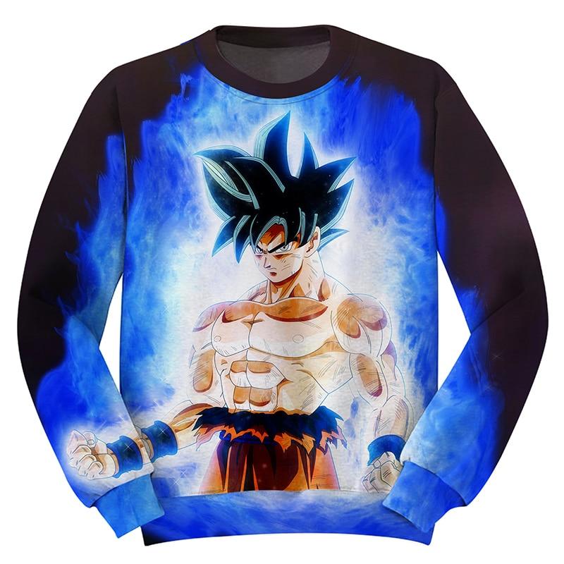 Cloudstyle Dragon Ball Super 3d Anime Sweatshirt Men Goku Ultra