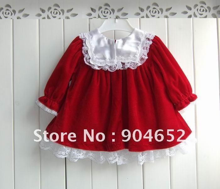 Wholesale 2012 Winter Brand Design Baby Girl S Christmas Velvet