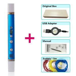 Image 4 - Caneta 3d myriwell canetas 3d, display led, carregamento usb, 3 d pen3d modelo smart3d impressão caneta melhor presente para Kidspen 3d impressão caneta 3 d