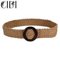 The Newest Unisex Belt Jeans Wax Rope And Straw Material Belt Suit Woman And Men Belt