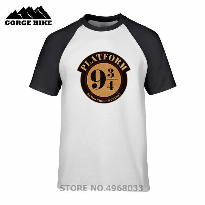 867ffe032975a Высококачественная одежда для взрослых, футболка на платформе Гарри, девять  и три четверти, Potter