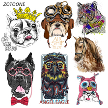 ZOTOONE Iron on Transfer Patches Clothing Diy Stripes Horse Patch Heat for Clothes Decoration Stickers Kids G