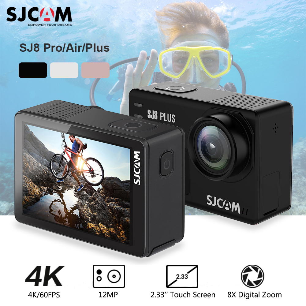 Original SJCAM SJ8 Pro/SJ8 Plus/SJ8 Action Camera WiFi 4K 60fps HD DVR Camcorder Remote Control 30m Waterproof Sports Camera DV