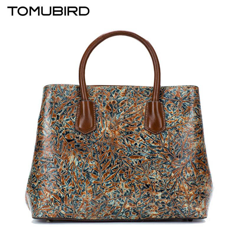 TOMUBIRD 2017 new hand-Leaves embossed superior leather designer bag famous brand women bags genuine leather handbags shoulder tomubird 2017 new superior leather retro embossed designer famous brand women bag genuine leather tote handbags shoulder bag
