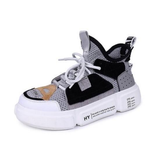 Влюбленных обувь лето 2018 новый лоскутное цвет корейской версии дышащие кроссовки harajuku старый папа размер женская обувь 41-43