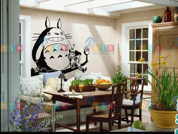 japanese home decor shop aliexpress buy totoro decal japanese totoro 11607