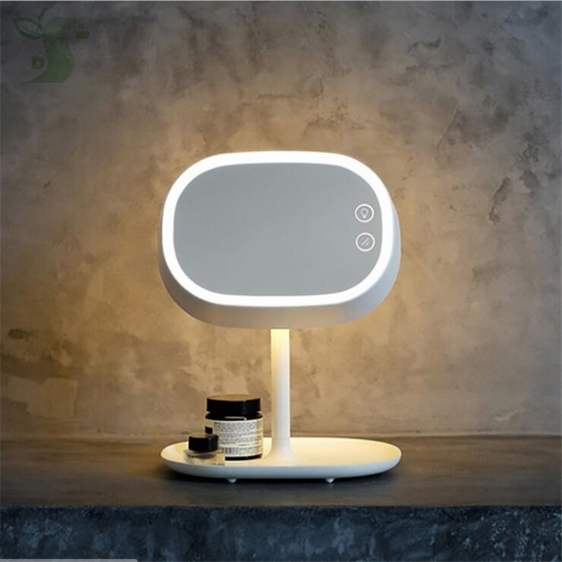 make up mirror lamp 2w round type dimmable table lamp. Black Bedroom Furniture Sets. Home Design Ideas