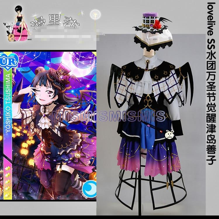 New Anime Love Live Sunshine Aqours Yoshiko Tsushima Halloween Dresses Cosplay Costume Full Sets AAnime Costumes   -