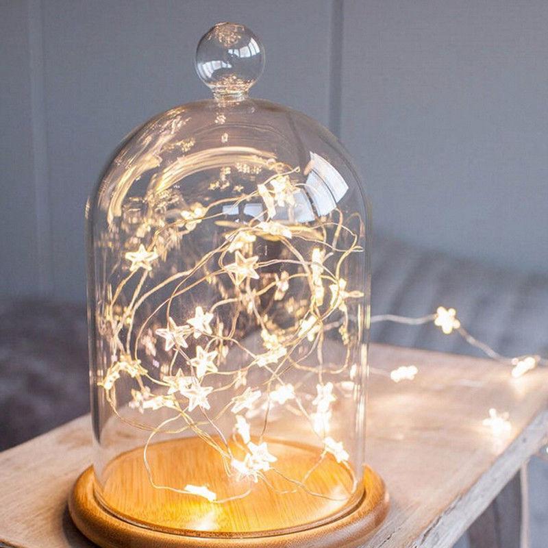3M 30LED Star Copper Wire String Light RabbitCactus LED Fairy Light Bedroom Christmas Decor Light Battery Operate Twinkle Light