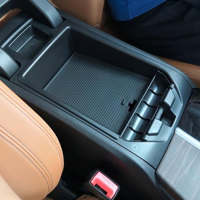 Car Black Armrest Storage Box Phone Tray For BMW X3 G01