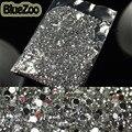 BlueZoo 20000 pcs Limpar Rodada Pedras Do Prego 3D Nail Art Decoração Rhinestone 2mm Glitter Para DIY Dicas de Design Beleza decoração