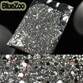 BlueZoo 20000pcs Clear Round 3D Nail Stones Nail Art Decoration Rhinestone 2mm Glitter For DIY Tips Beauty Design Decoration