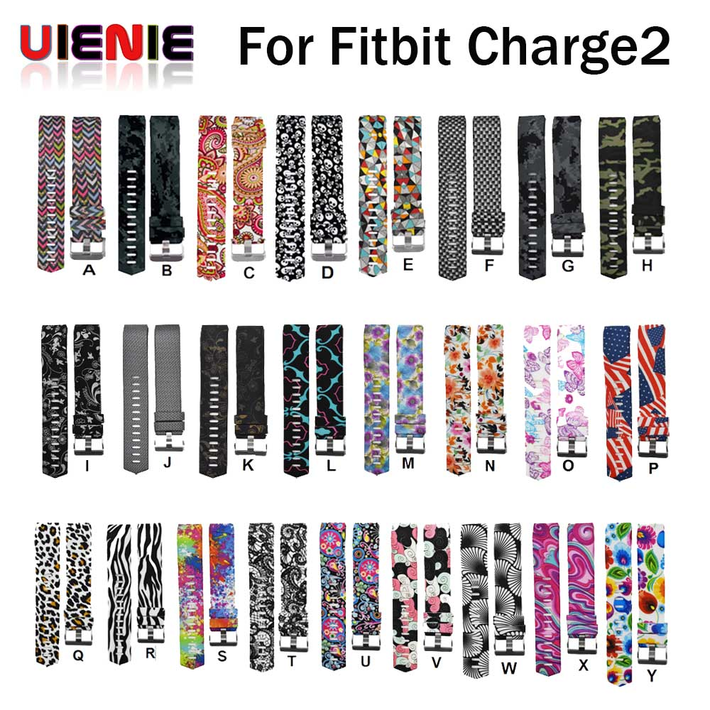 New Fashion Sports Silicone Wrist Watch Strap Bracelet Watch Band Replacement Watchband Bracelet For Fitbit Charge 2 Watchband