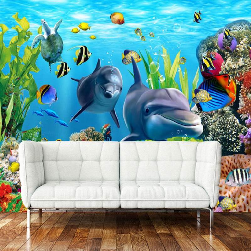 Online get cheap underwater wall murals for Cheap 3d wallpaper