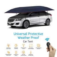 Folding Waterproof Full Automatic Car Cover Umbrella Remote Control Car Sun Shade Kit UV Roof Cover Tent Umbrella Protection