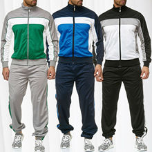 ZOGAA 2019 Spring New Men Track Suit Casual Stitching Sweat Street Style Retro Sports 3 Color Classic Sweatsuits