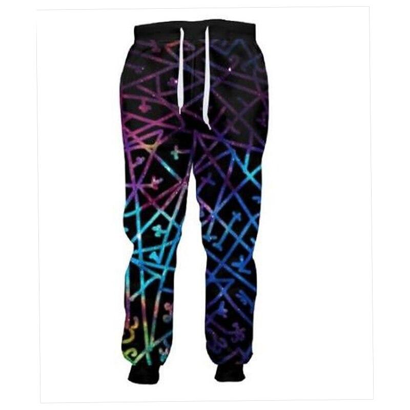 LiZhiYang 3D print Men Women Funny casual Colorful lines Pants Fashion Clothes Sweatpant ...