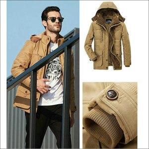 Image 5 - Winter Jacket Men Thick Warm Hooded Parka Military Cargo Mens Winter Coat Warm Fleece Male Overcoat Plus Size M  5XL