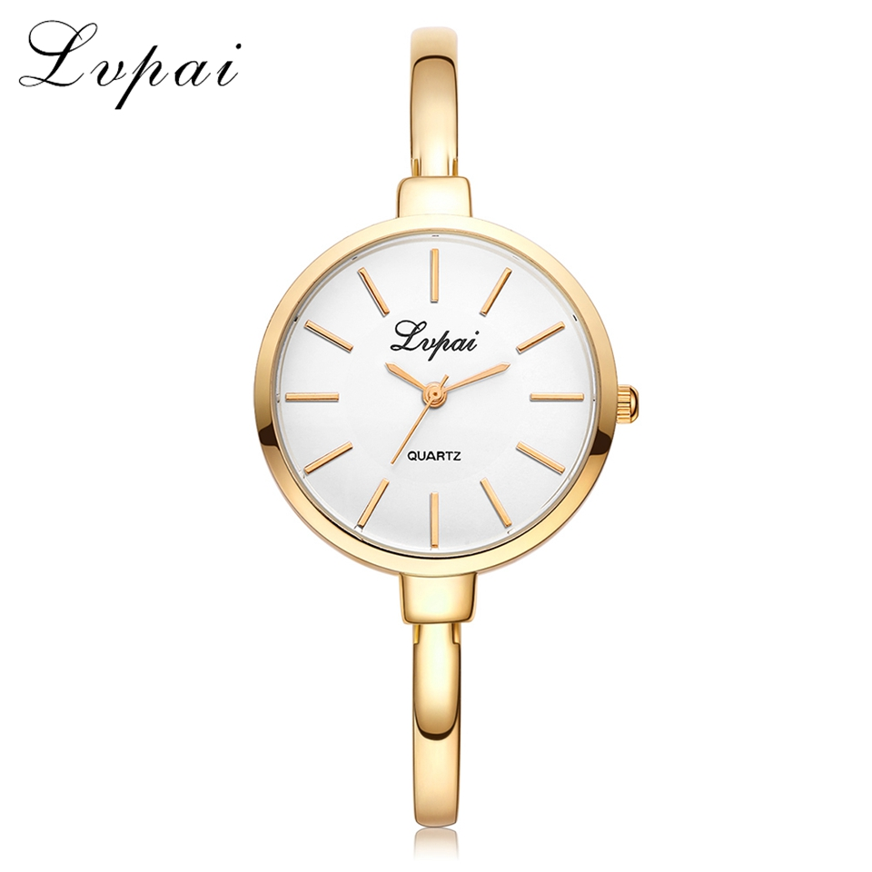 Lvpai Rose Gold Women Bracelet Watches Fashion Luxury Quartz Watches Brand Ladies Casual Dress Sport Watch