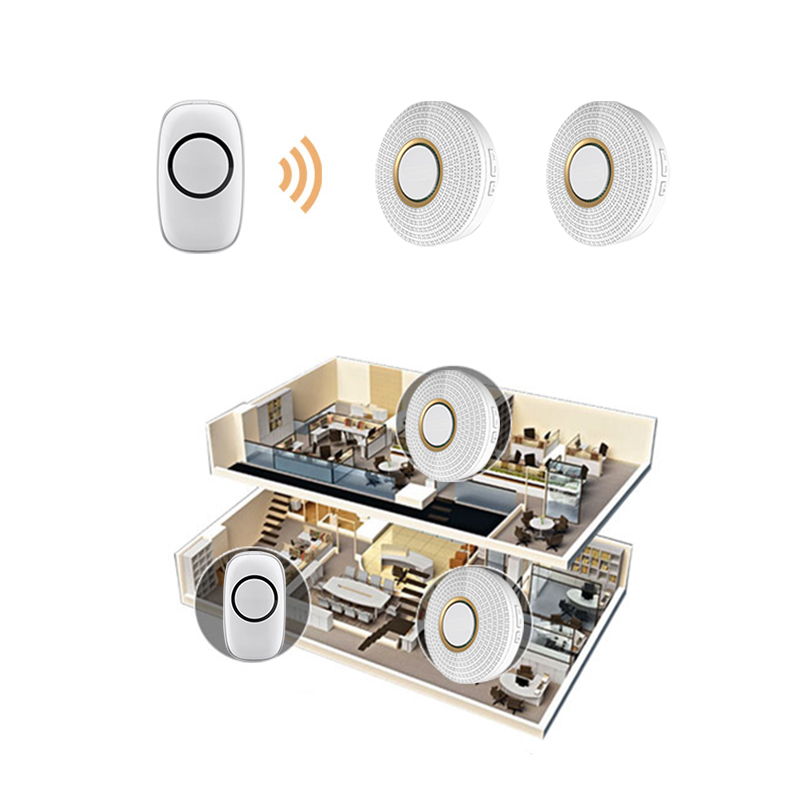 EU switch wireless remote control doorbell switch door bell ring 433.92mhz rf wireless remote alarm system IOS alarm smart home golden security remote control music wireless doorbell with buttons ring sound door bell home accessories mini wireless doorbell