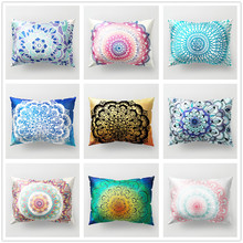Mandala Floral Cushion Cover Polyester Colorful Pillowcase Home Living Room Decor for Sofa Car Seat Bed Decorative Covers 30*50 цены