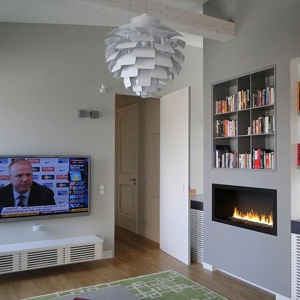 Inno Living Fire 36 Inch Real Flame Bio Ethanol Inbuilt Fireplace