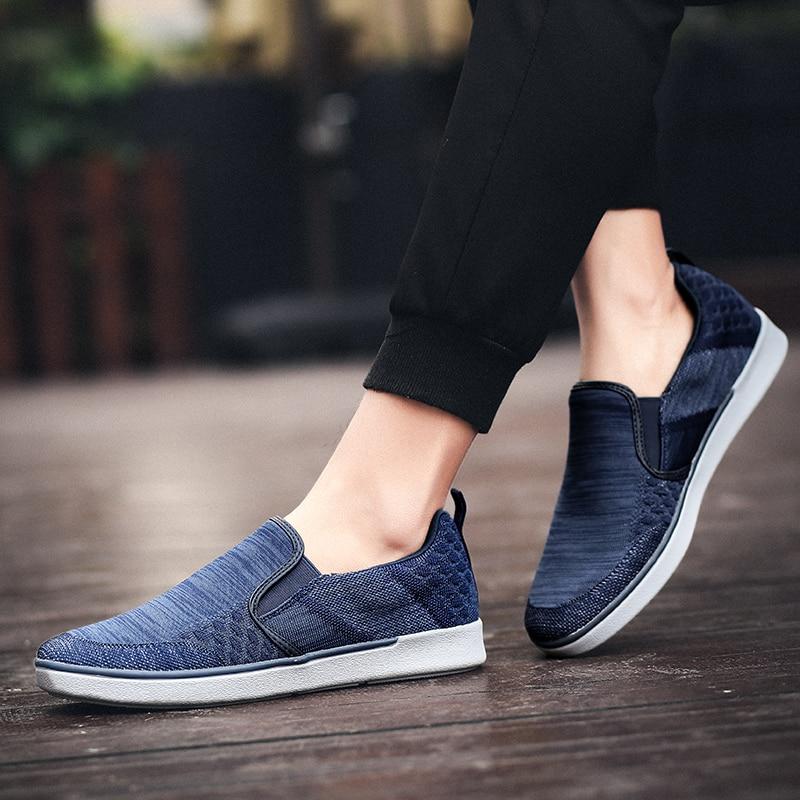 CYYTL Performance Men's Loafers Soft Flyknit Slip-On Walking Shoes Spring Casual Male Sneakers Zapatos de Hombre Erkek Ayakkabi (25)