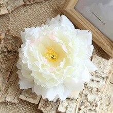 5pcs 13cm Silk Peonies Flower Heads Fake Flowers For Wedding Artificial Petals Decoration Craft Wall