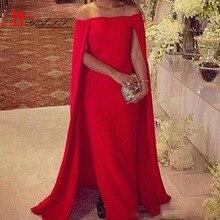 Elegante Rote Lange Abendkleider Red Carpet Kleid Mit Kappe 2017 Sexy Schulterfrei Bodenlangen Satin-formales Partei-kleid