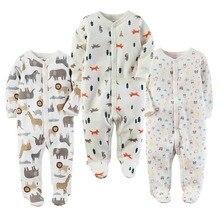 33cc1b2e9a Bebé niño niña Footies pijamas Original de algodón de primavera ropa de  dormir 1 pieza Pja