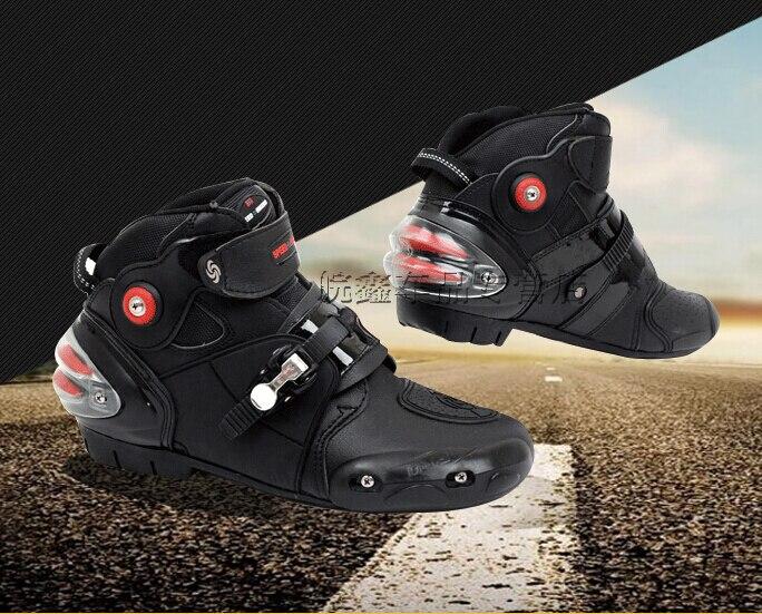 Ventes chaudes Date Moto Bottes Pro biker VITESSE Moto Racing Motocross Moto Chaussures Noir taille 40/41/42/43/44/45