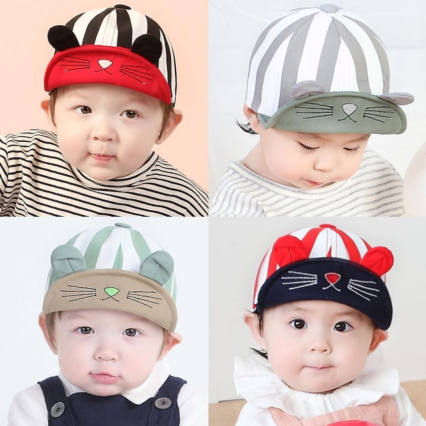 Baby Beanie For Boys Girls Cat Stripe Hat Children HatsSpring Baby Cap Kids Boys Girls Beanies Infant Toddler #20
