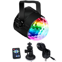Portable USB Stage Light Music Sound Activated Strobe Light Disco Ball DJ Party Light With RGB