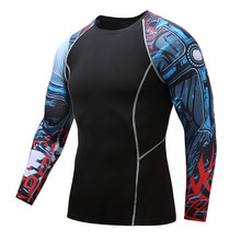 2017 cool quick-drying tights men long sleeve   T-shirt high spring MMAGYM workout clothes fall and
