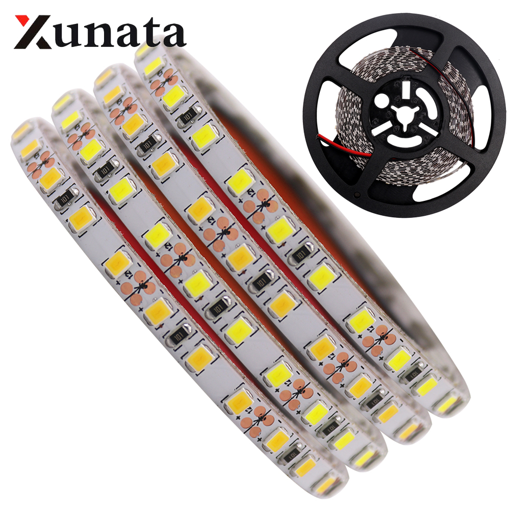 0.5m/1m/2m/3m/4m/5m DC12V 60 Leds/m 5050 White/Warm White Led Strip Super Bright 5054 Flexible Led Strip Light