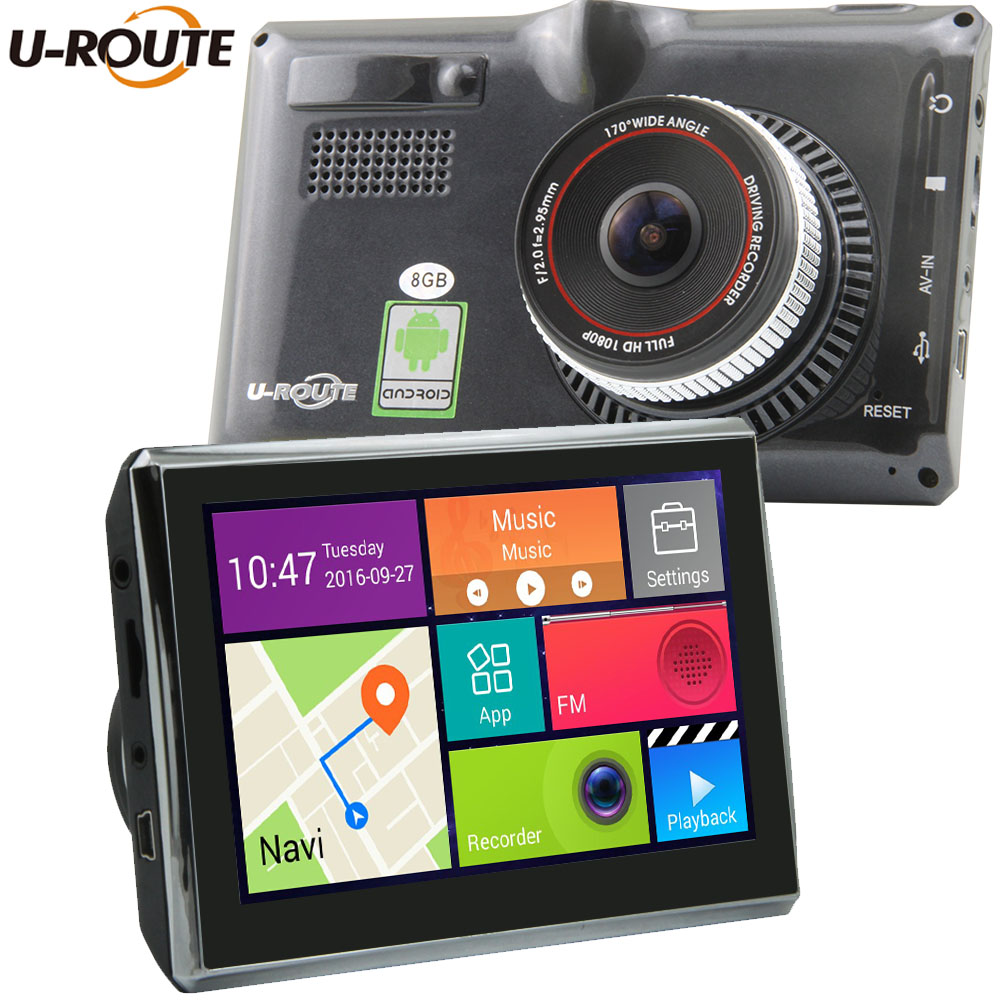 5″ Wifi Android 4 Car DVR GPS Navigation Parking Dash cam Tablet PC Bluetooth Video recorder Rear Camera Camcorder Full HD 1080P