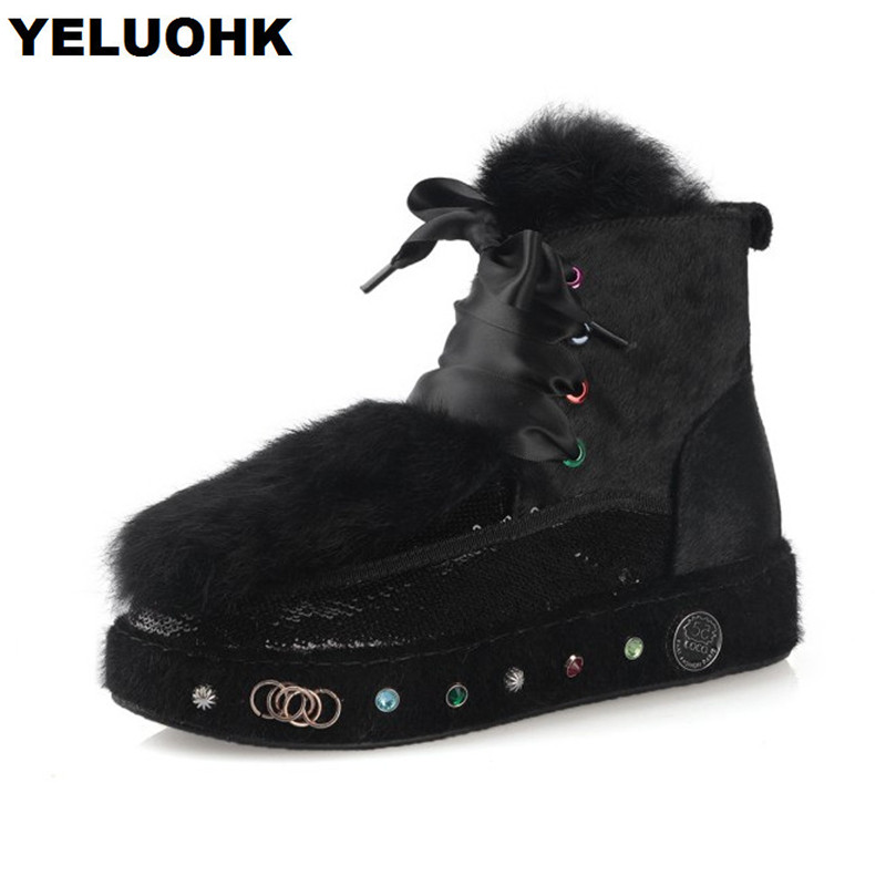 Brand New Winter Boots Women Shoes Casual Warm Snow Boots Women Plush Ankle Boots For Women Flat Shoes Platform High Quanlity woman snow boots women winter shoes women s ankle boots fashion casual flat warm plush shoes female ladies 2017 new or400880