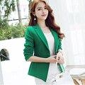 2015 azul e verde Silm mulheres Blazers de negócios da moda cor desgaste ou Casual exteriores JN052