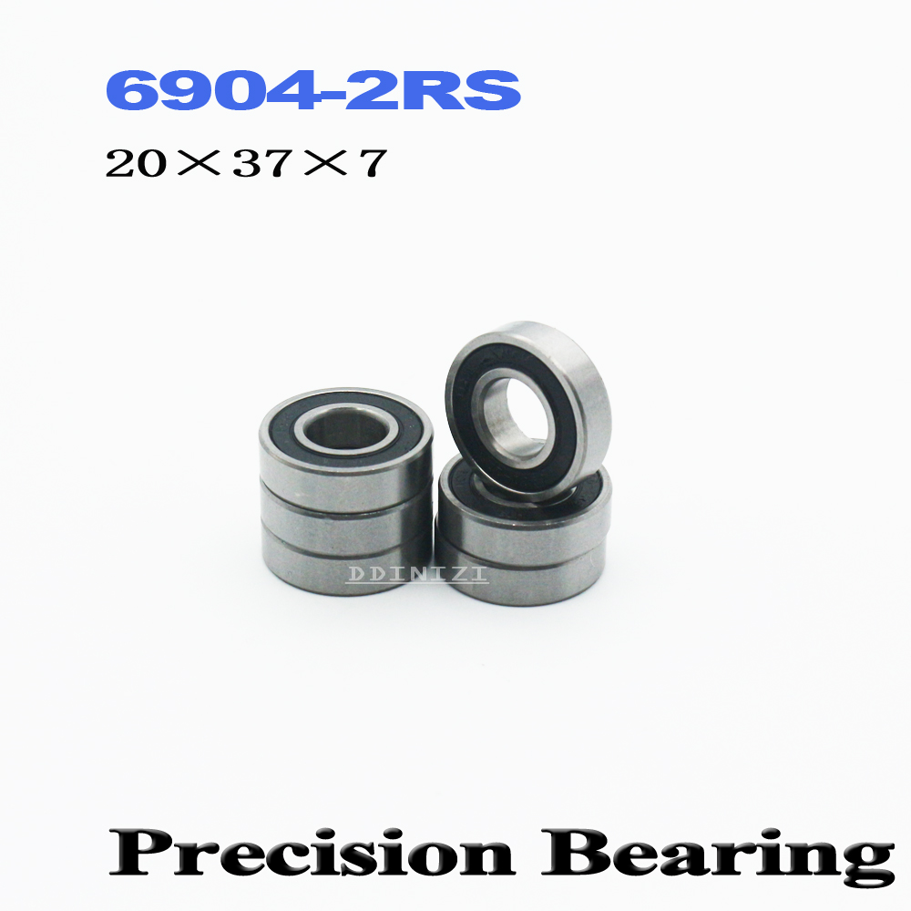 6904-2RS Bearing ABEC-1 20x37x9 Mm Thin Section 6904 2RS Ball Bearings 6904RS 61904 RS (4PCS)