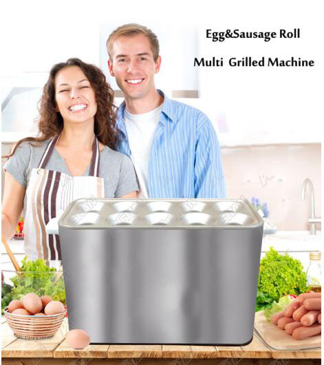 Commercial baked Egg Sausage Maker Hot dogs baking Machine Omelet breakfast Eggs Roll Maker Omelette Master 110V 220V EU US