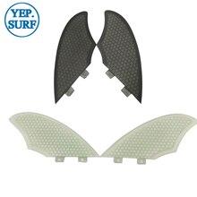 Surf Fins FCS Keel White/black color Fiberglass Honeycomb twin fins set 2 pcs per Sell In Surfing KEEL surf