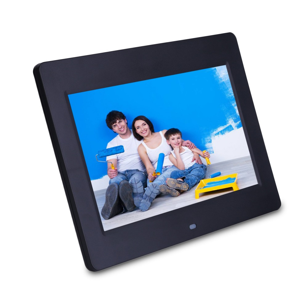 Newest 10 Inch HD Wide LCD Screen Digital Photo Frame Picture Album High Resolution MP3 MP4 Movie Player Black Ship From Germany free shipping dhl 15 hd 15inch tft lcd 1280 800 digital photo frame picture album clock mp3 mp4 movie ad player for menu sign page 2