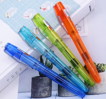 4PCS Set Upgraded Transparent Wing Sung 3010 Fountain Pen EF/F 0.38/0.5 Wingsung Ink Pen Silver Clip for Office School Business kaco sky plastic hollow out clip ef fountain pen ink set with 0 5mm black ink rollerball pen luxury business office gift set